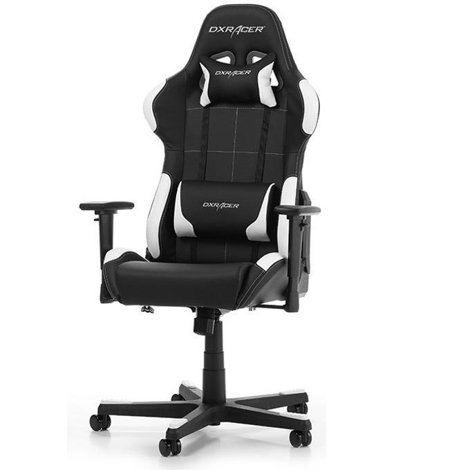 Геймърски стол DXRacer Formula OH/FG99/NW, черен/бял image