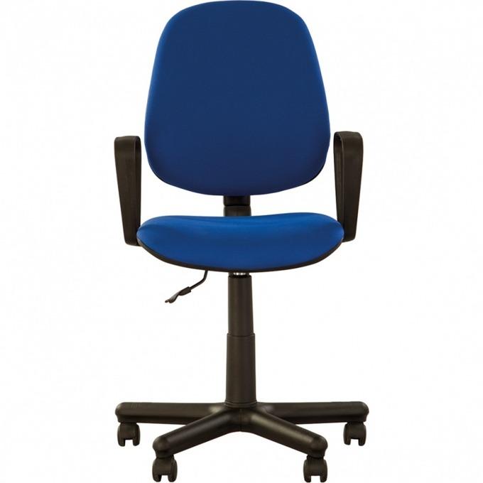 Стол Forex, с подлакътници, дамаска, метална петлъчева основа, син image