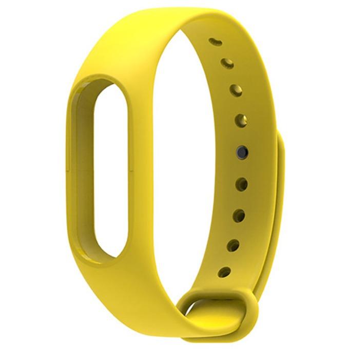 Силиконова гривна за Xiaomi Mi Band 2, само гривна, жълта image