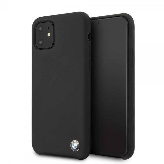 Калъф за Apple iPhone 11, термополиуретанов, BMW Signature Silicone Hard BMHCN61SILBK, черен image