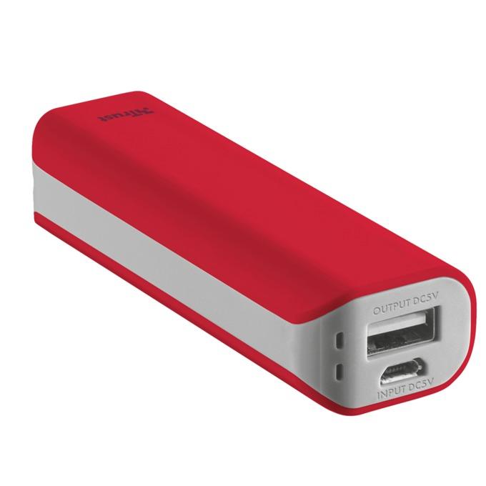 Външна батерия /power bank/ TRUST Primo Power Bank 2200, 2200mAh, червена image
