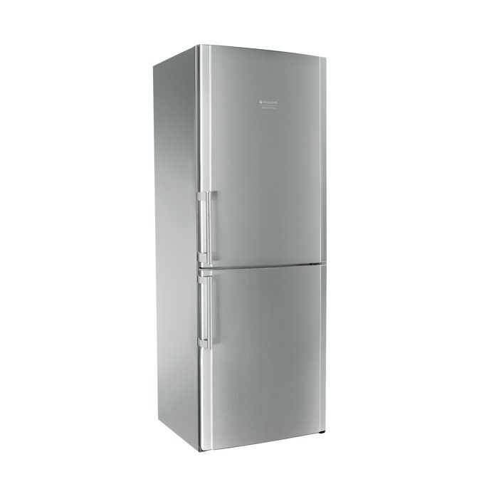 Хладилник с фризер Hotpoint Ariston ENBLH19221FW, клас A+, 450 л. общ обем, свободностоящ, 418 kWh/годишно, No Frost, Cold Shower System, SuperCool функция, инокс image