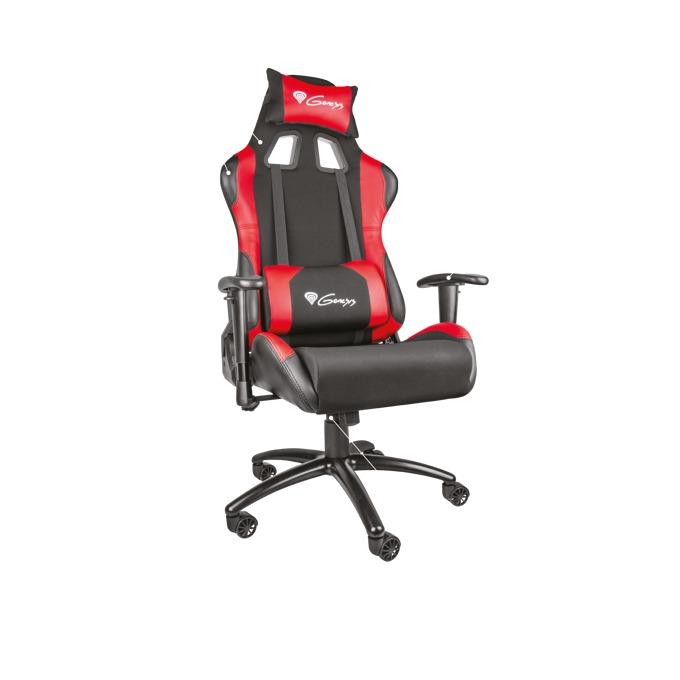 Геймърски стол Natec Genesis Nitro 550, до 150kg, метална основа, черен/червен image