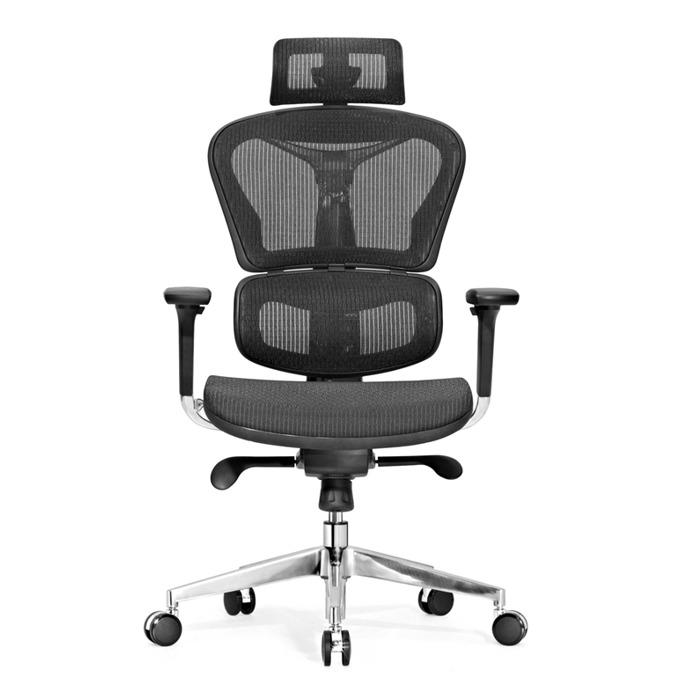 Работен стол RFG Hero(ON4010200089), меш, 150 кг. максимално натоварване, газов амортисьор, черен image