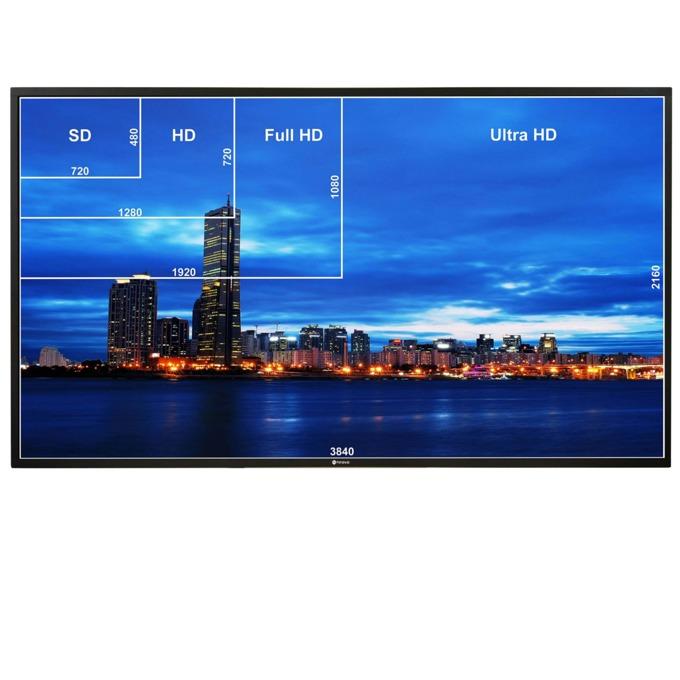 "Публичен дисплей AG NEOVO QD-98, 98""(248.92 cm), 4K UHD, IPS LED, VGA, HDMI, DVI-D, Displayport, USB, RS232, CVBS, RCA, LAN image"