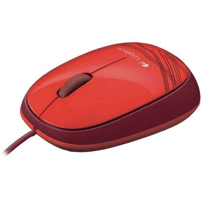 Мишка Logitech M105, оптична (1000 dpi), червена, USB image