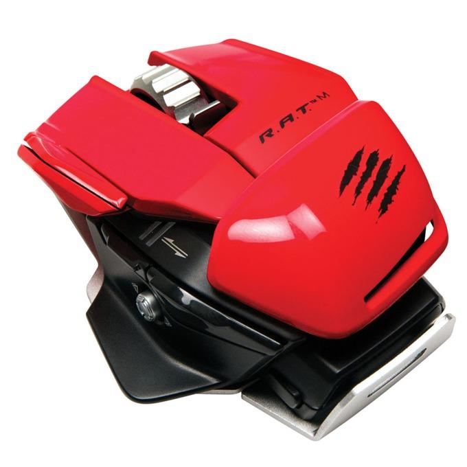 Мишка Mad Catz R.A.T. M, оптична (6400dpi), безжична, 10 програмируеми бутона, USB, червена image