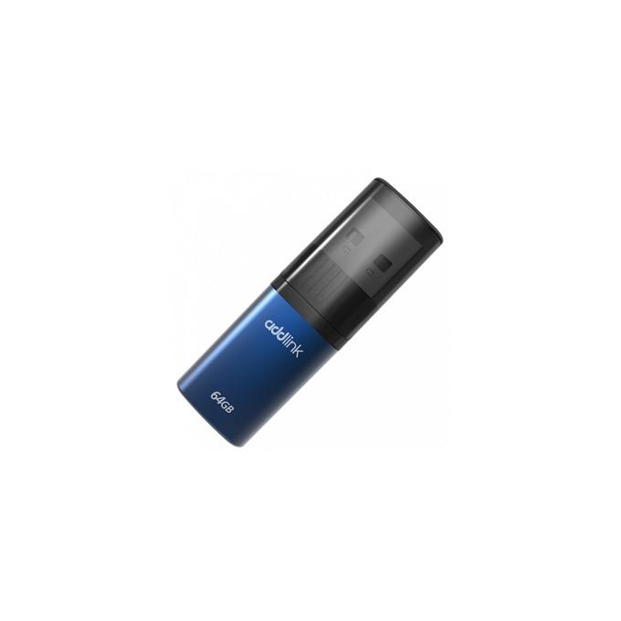 Памет 64GB USB Flash Drive, Addlink U15, USB 2.0, синя image