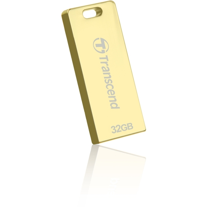Памет 32GB USB Flash Drive, Transcend T3G, USB 2.0, златиста image