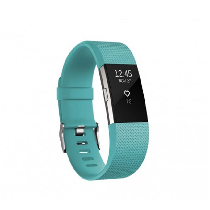 Смарт гривна Fitbit Charge 2 Large Size, Bluetooth, GPS, OLED Display, Mac OS X 10.6 (или по-нова), iPhone 4S (или по-нова), iPad 3 gen. (или по-нова), Android and Windows 10 devices, зелена image