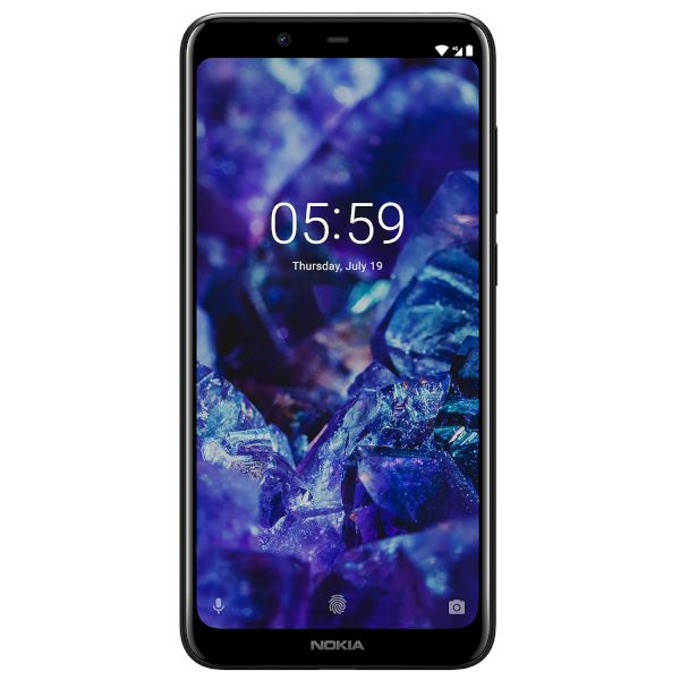 "Nokia 5.1 Plus (черен), поддържа 2 sim карти, 5.8"" (14.73 cm) HD+ дисплей, осемядрен MediaTek Helio P60 1.8GHz, 3GB RAM, 32GB Flash памет (+microSD слот), 13 MPix & 8 MPix камера, Android, 160 g image"