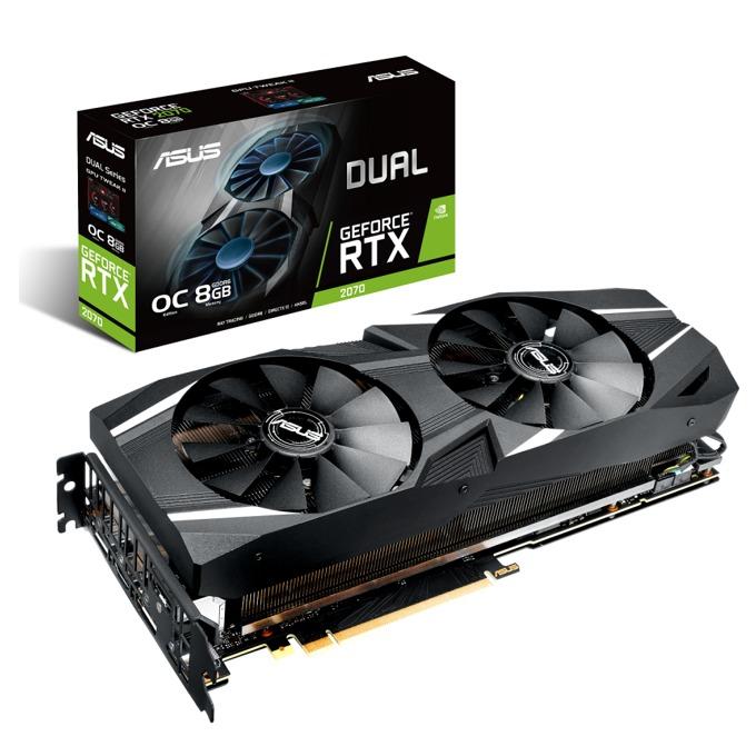 Видео карта Nvidia GeForce RTX 2070, 8GB, Asus DUAL RTX 2070 OC, PCI-E 3.0, GDDR6, 256-bit, 3x DisplayPort, 1x HDMI, 1x USB-C image