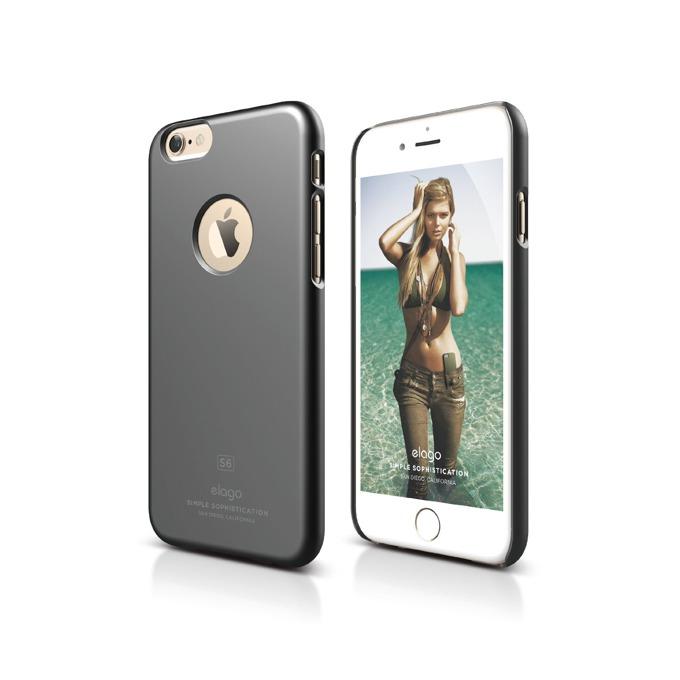 Поликарбонатов протектор Elago S6 Slim Fit за iPhone 6, сив, HD покритие  image