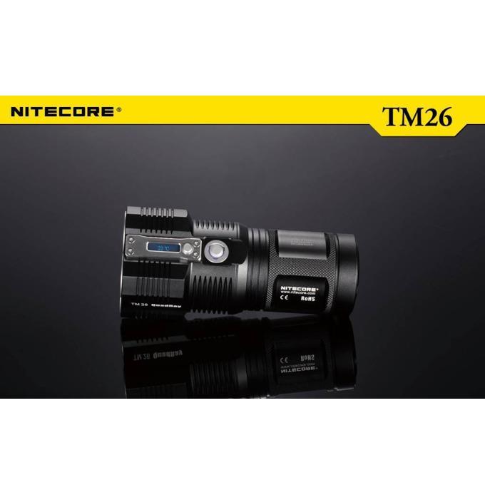 Фенер Nitecore TM26, 4x 18650/ 8x CR123A батерии, 3800 lumens, удароустойчив, водонепропускливост, за открито, черен image