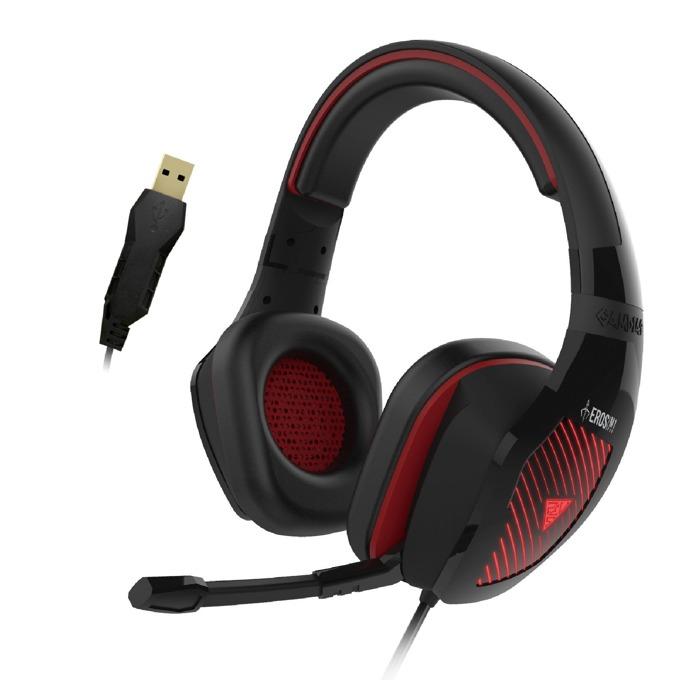 Слушалки Gamdias EROS M1 RGB, микрофон, USB, гейминг, подсветка, черни image