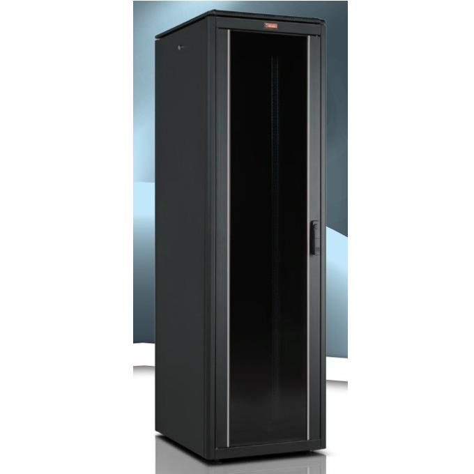 """Комуникационен шкаф Lande LN-FS32U6060-BL-111, 19"""", 32U, 600 x 600 мм, стъклена врата, черен image"""