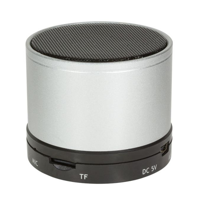 Тонколона LogiLink SP0051S, 1.0, 3W, Bluetooth, сребриста, микрофон  image