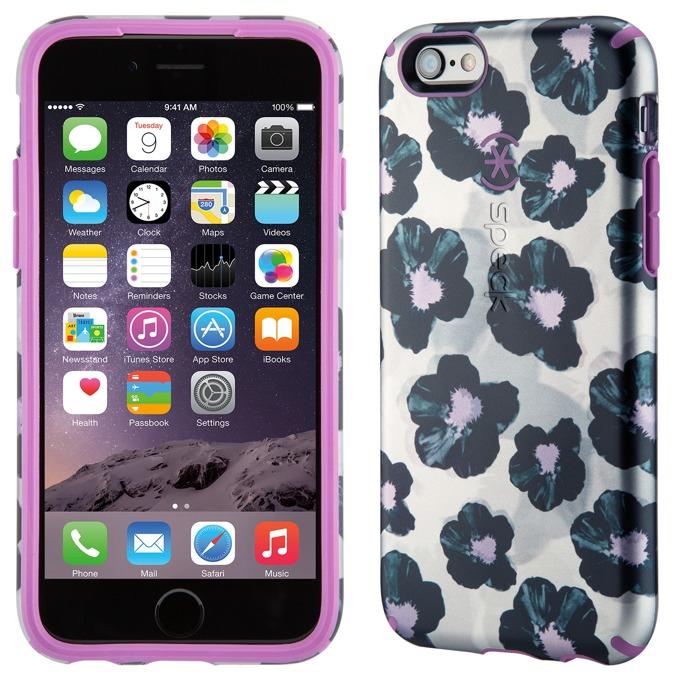 Страничен протектор с гръб Speck Inked Luxury Edition за iPhone 6S Plus, лилав с щампа image