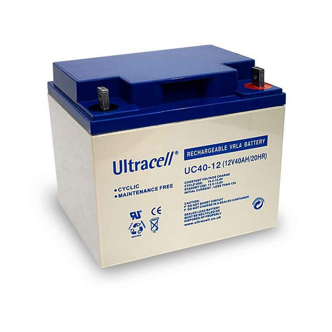 Акумулаторна батерия Ultracell 40-12, 12V, 40Ah image