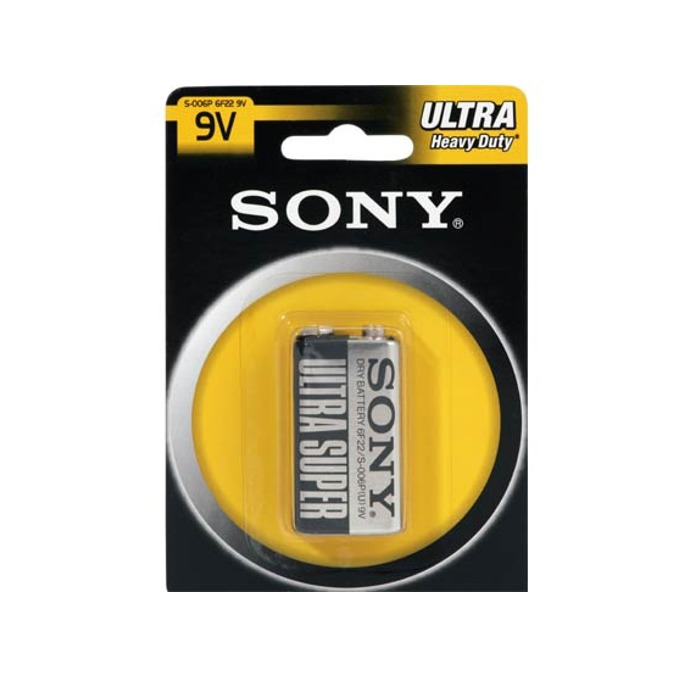 Батерия цинкова Sony Ultra Super 6F22, 9V, 1 бр.  image