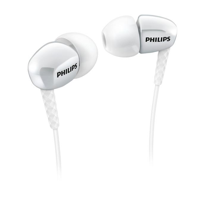 Слушалки Philips SHE3900WT, тип тапи, позлатен накрайник, бял  image