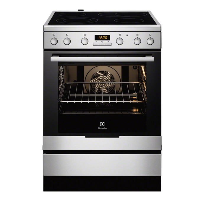 Готварска печка със стъклокерамичен плот Electrolux EKC6450AOX, клас А, 74л. обем, 4 нагревателни зони, инокс image
