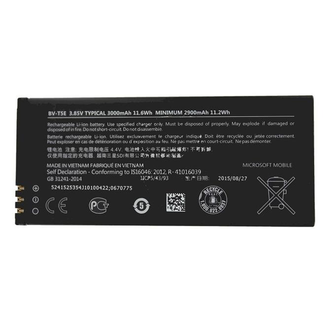 Батерия (оригинална) Microsoft BV-T5E за Microsoft Lumia 950, 3000mAh/3.8V, Bulk image