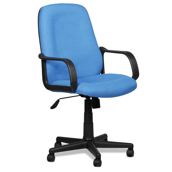 Офис стол Carmen 6001, дамаска, подлакътници, регулируем люлеещ механизъм, син image