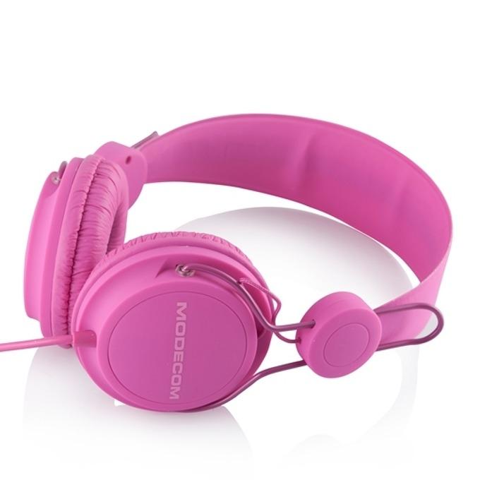 Слушалки Modecom Volcano MC-400 Fruity, микрофон, 20-20kHz, 1.2m кабел, розови image