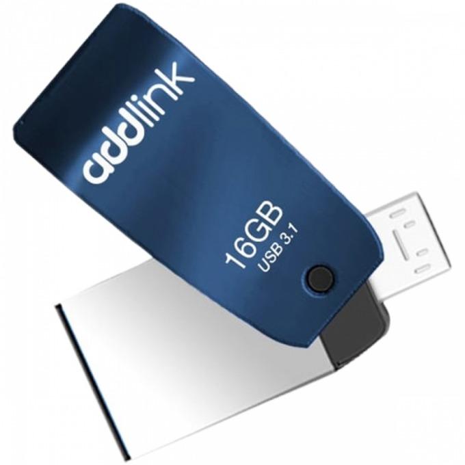 Памет 16B USB Flash Drive, Addlink T55, USB 3.1, синя image