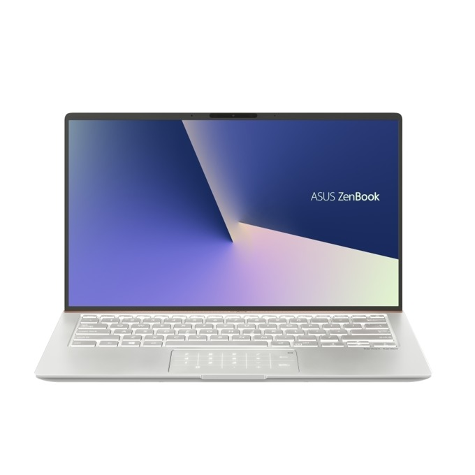 "Лаптоп Asus ZenBook UX433FN-A5028R (90NB0JQ4-M04410)(сребрист), четириядрен Whiskey Lake Intel Core i7-8565U 1.8/4.6 GHz, 14.0"" (35.56 cm) Full HD Anti-Glare Display & GF MX150 2GB, (HDMI), 16GB, 512GB SSD, 1x USB 3.1 Type C, Windows 10 image"