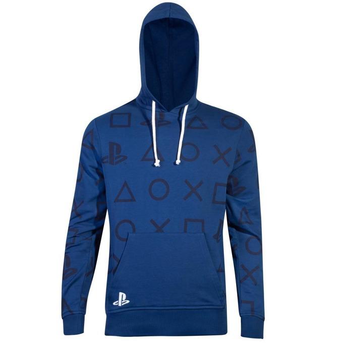 Суитшърт Bioworld PlayStation AOP Icons, мъжки, размер S, син image