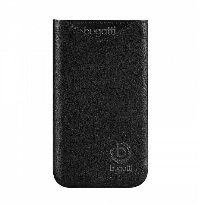 """Калъф """"джоб"""" Bugatti SlimFit, естествена кожа, за iPhone 5S, черен image"""
