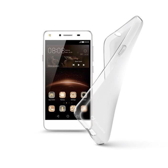 Калъф за Huawei Y5 II, страничен протектор с гръб, гумен, Cellular Line Shape, прозрачен image