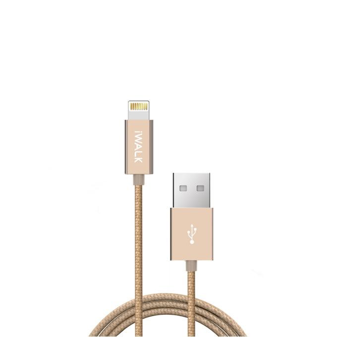 Кабел iWalk, USB(м) към Lightning(м), 2m, златист image