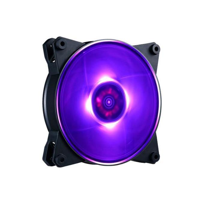 Вентилатор 120mm, CoolerMaster MasterFan Pro 120 Air Pressure, 4-pin, 1500 rpm, червен, подсветка image
