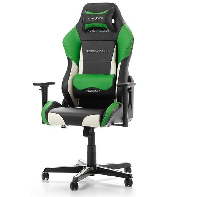 Геймърски стол DXRacer Drifting OH/DM61/NWE, черен/бял/зелен image