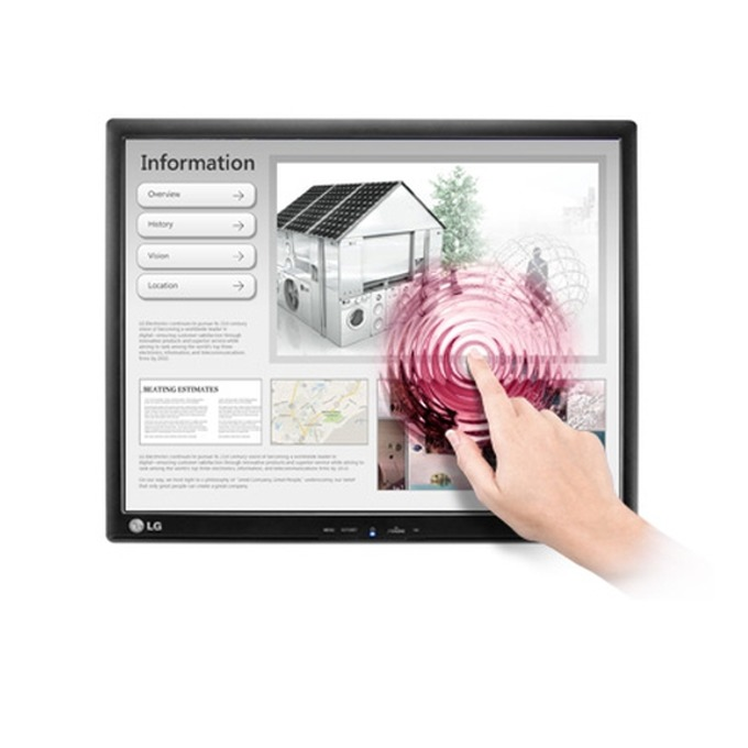 """Монитор 17"""" (43.18 cm) LG 17MB15T-B, 5 ms, 5,000,000:1 (DFC), 250cd, LCD, Touch-Screen, D-SUB, USB image"""