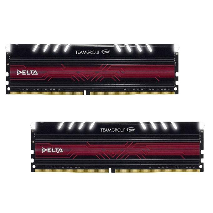 16GB (2x8GB) DDR4 3000MHz, Team Group Delta White, TDTWD416G3000HC16CDC01, 1.35V image