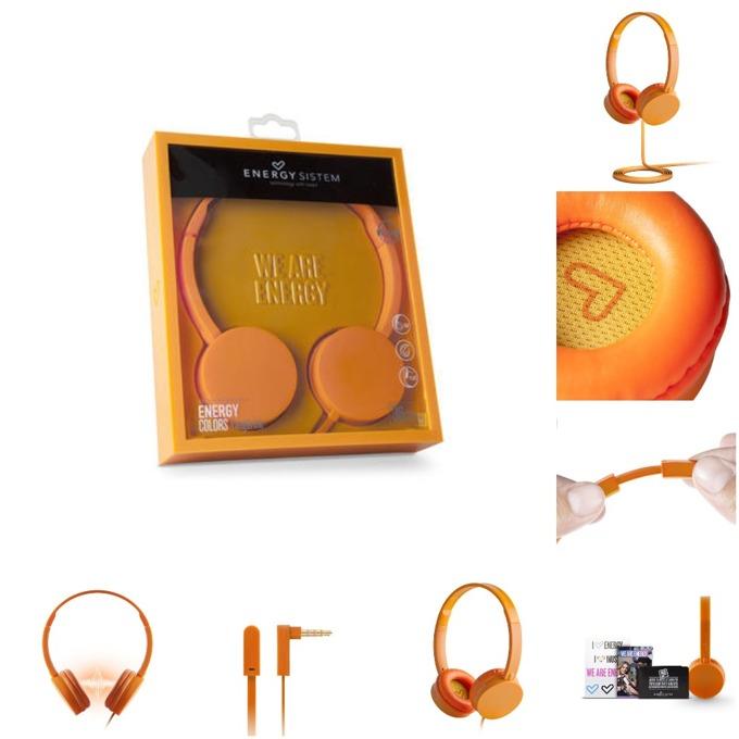 Слушалки Energy Sistem Headphones Colors Tangerine, 3.5 mm jack, оранжеви image