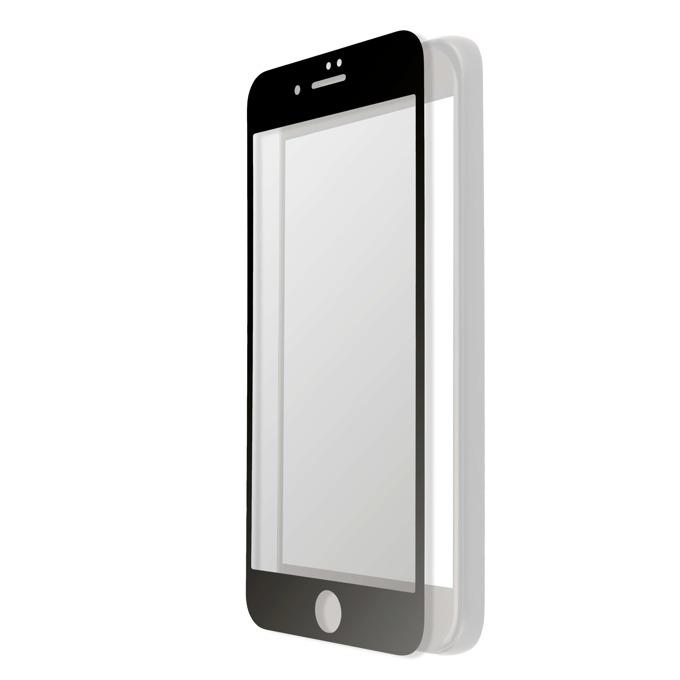 Протектор от закалено стъкло /Tempered Glass/, 4smarts, за iPhone 7 Plus (прозрачен-черен) (смартфон)  image