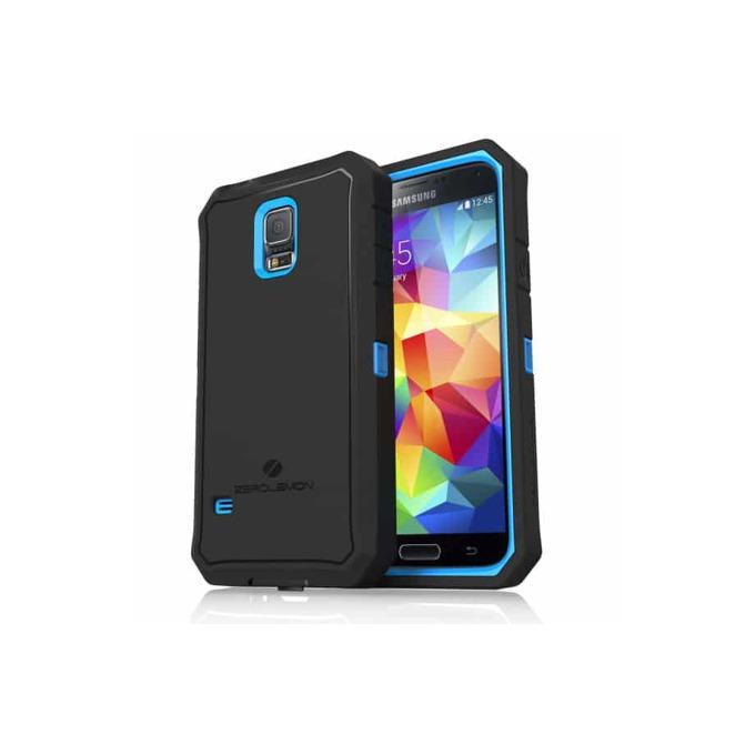 Протектор Zerolemon за Samsung Galaxy S5, черен със син кант image