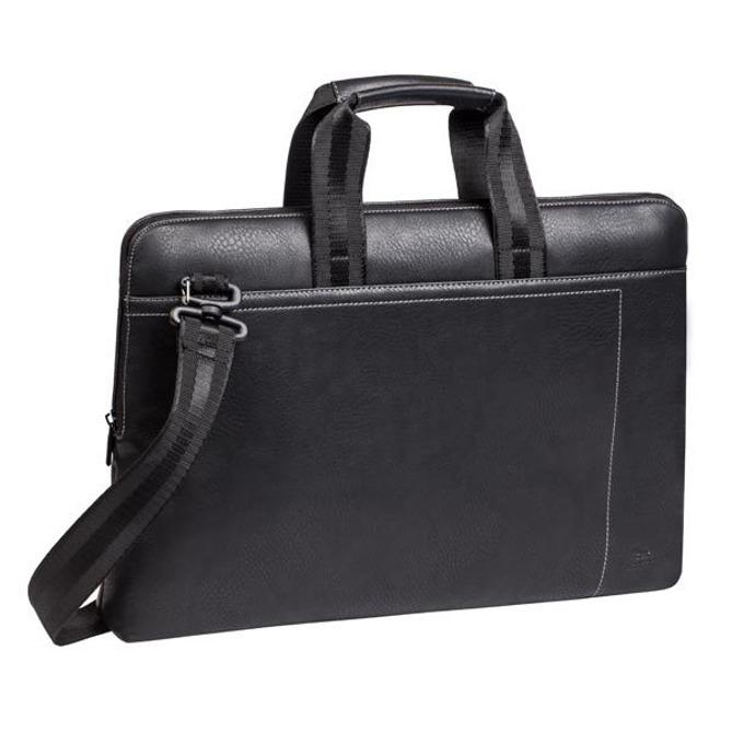 """Чанта за лаптоп Rivacase 8930 (PU) до 15.6"""" (39.60 cm), естествена кожа, черна image"""