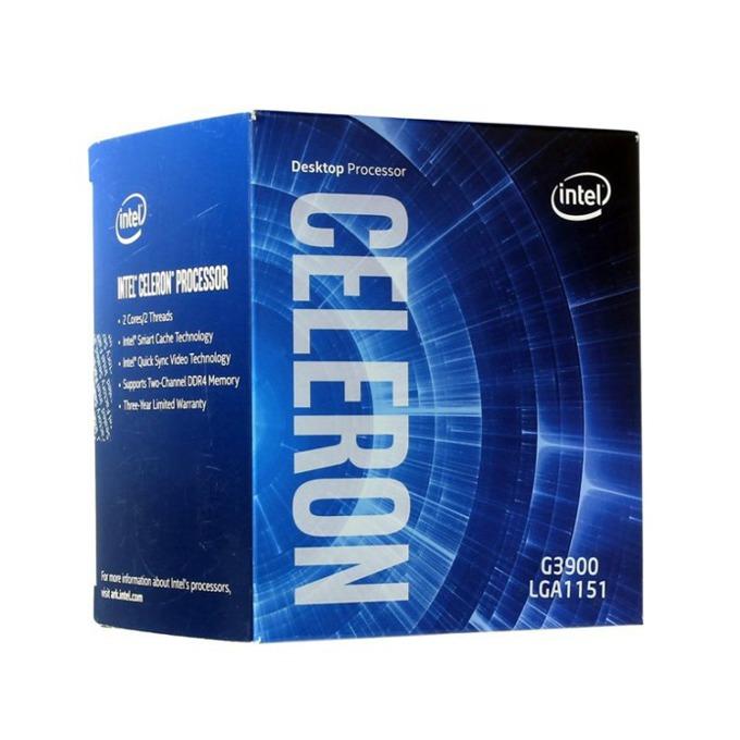 Intel Celeron G3900 дву-ядрен (2.8 GHz, 2MB Cache, 350MHz-950 MHz GPU, LGA1151) BOX image
