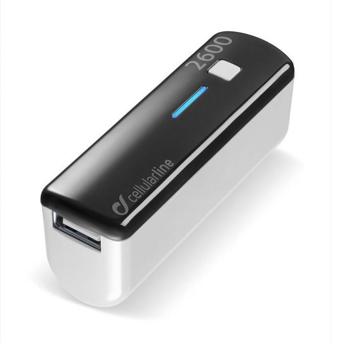 Външна батерия/power bank/ Cellular Line, 2600mA, черна, 1x USB image