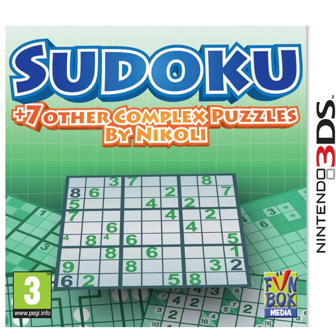 Sudoku + 7 other Complex Puzzles by Nikoli, за 3DS image