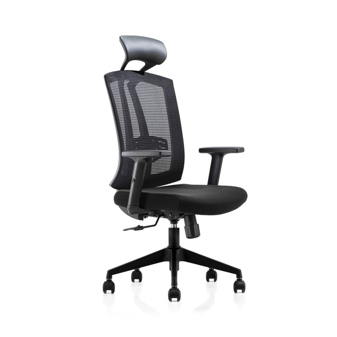 Директорски стол RFG Brixen HB, дамаска и меш, черна седалка, черна облегалка image