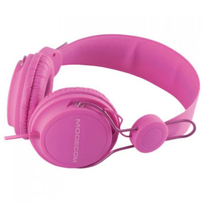 Слушалки Modecom MC-400 FRUITY, микрофон, розови image