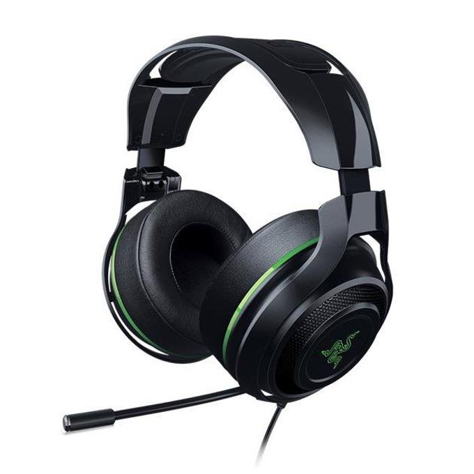 Слушалки Razer ManO War 7.1, микрофон, 3.5mm Jack, черни със зелен кант image