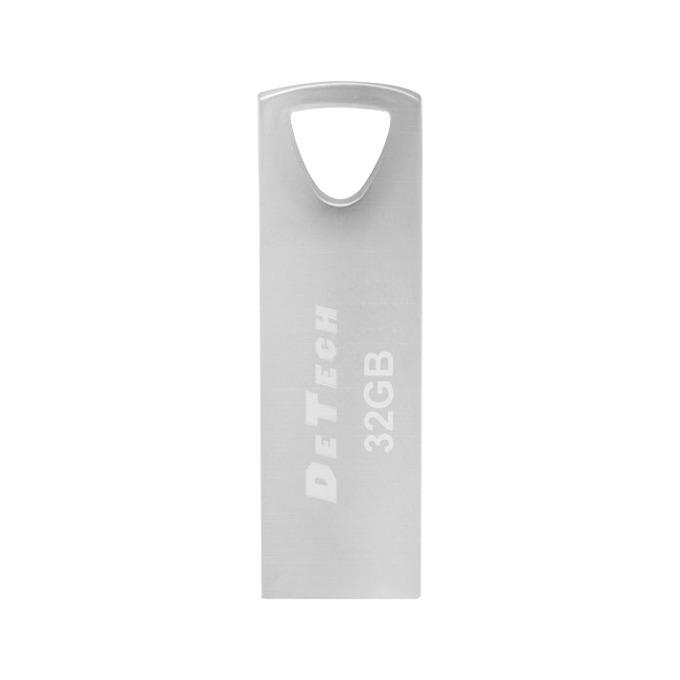 Памет 32GB USB Flash Drive, DeTech, USB 3.0, сребриста image